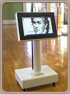 Custom kiosk at the Old State House Museum